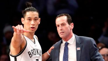 Jeremy Lin with Kenny Atkinson