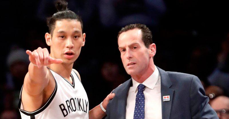 Jeremy Lin with Kenny Atkinson