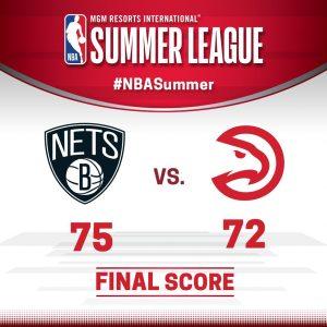 Nets vs Hawks 7-7-17 Score