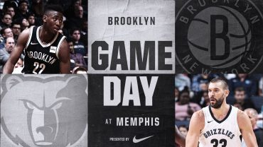 Nets at Grizzlies 11-26-17 Graphic