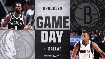 Nets at Mavericks 11-29-17 Graphic