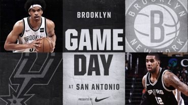 Nets at Spurs 12-26-17 Graphic