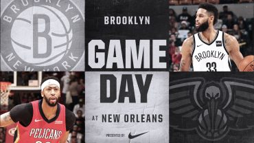 Nets at Pelicans 12-27-17 Graphic