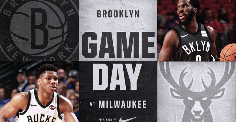 Brooklyn Nets at Milwaukee Bucks 1-26-18 Graphic