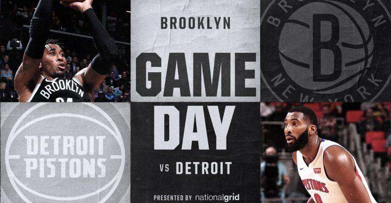 Nets vs Pistons 1-10-18 Graphic