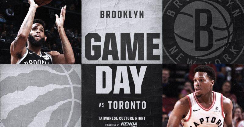 Nets vs Raptors 1-8-18 Graphic