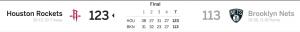 Brooklyn Nets vs Houston Rockets 2-6-18 Score