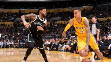 Brooklyn Nets vs. LA Lakers team, leaders 2-2-18